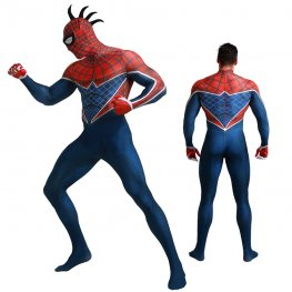 Spider-Punk Costume Ps4 Spiderman Suit Cosplay Costume Zentai For Adult & Kids