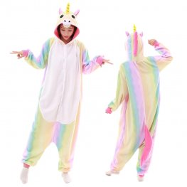 Rainbow Unicorn Onesie Pajamas for Adult Animal Onesies Cosplay Halloween Costumes