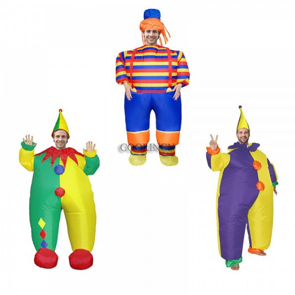 Blow Up Inflatable Clown Costumes Festival Party Funny Suit for Adult