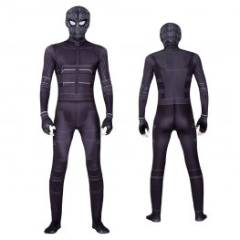 Spider Man Far From Home Black Stealth Suit Halloween Cosplay Costume Adult & Kids