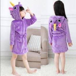 Purple Unicorn Robe: Soft & Cozy Animal Hooded Bathrobe