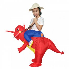 Blow Up Costume Inflatable T Rex Dinosaur Costumes Halloween Funny Suit For Kids Red