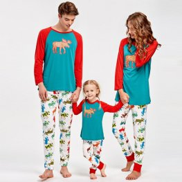 Family Pajamas Sets Holiday Pajamas Pattern Reindeer