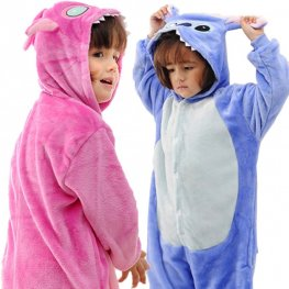Blue & Pink Stitch Onesie Pajamas for Boys & Girls Animal Onesies Costumes