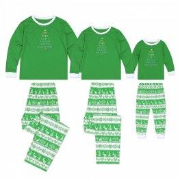Matching Family Christmas Pajamas Christmas Green Red