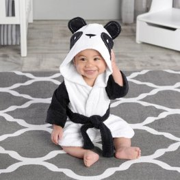 Panda Robe for Baby Flannel Bathrobe Cute Sofy & Cozy