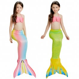 Mermaid Tails For Girls Swimmimg Bikini Mermaid Bathing Suit Set