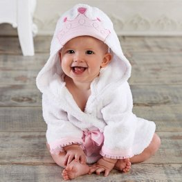 Crown Robe for Baby Flannel Bathrobe Cute Sofy & Cozy