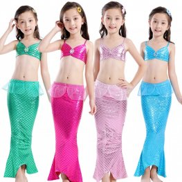 Mermaid Tail Dress Costume For Girls Swimsuit Bikini Sets Mermaid Tails