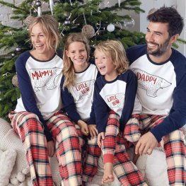 Family Pajamas Sets Holiday Pajamas Bear Blue