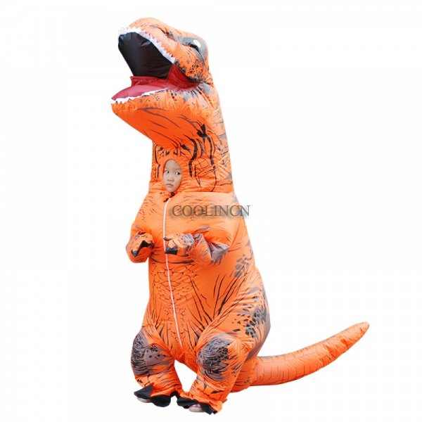 Blow Up Costumes For Kids Inflatable Dinosaur T Rex Costume Halloween Suit