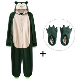 Snorlax Onesie Pajamas Costume for Adult & Kids with Slippers for Sale