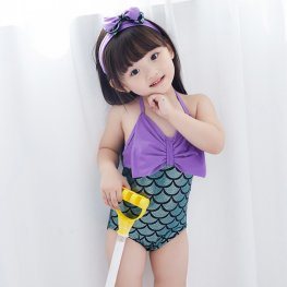 One Piece Little Mermaid Bathing Suit Toddler For Girls Swimwear Green Mermaid Bikini Costume