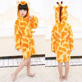 Giraffe Robe: Soft & Cozy Animal Hooded Bathrobe