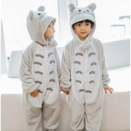 Totoro Onesie Pajamas for Kids Soft & Cozy Animal Costume