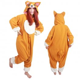 Corgi Dog Onesie Pajamas for Adult Animal Onesies Cosplay Halloween Costumes
