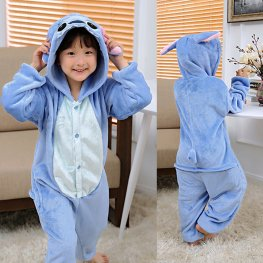 Stitch Kids Winter Warm Animal Onesie Pajamas
