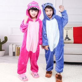 Blue & Pink Stitch Onesie Pajamas for Kids Animal Onesies Costumes