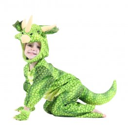 Inflatable Dinosaur Blow Up Costumes Green Party Halloween Animal Funny Suit for Kids