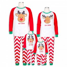 Matching Family Christmas Pajamas Cartton Deer