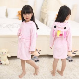 Pink Unicorn Robe: Soft & Cozy Animal Hooded Bathrobe