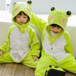 Frog Onesie Pajamas for Kids Soft & Cozy Animal Costume