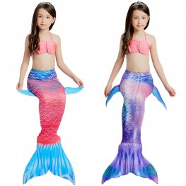 Pink Mermaid Tails For Kids Girls Swimmable Mermaid Tail Bikini Costume