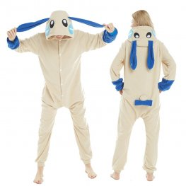 Minus Bunny Onesie Pajamas Costumes Rabbit Adult Animal Onesies Button Closure