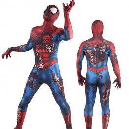 Ps4 Spider Man Costume Adult & Kids Zombie Spiderman Spandex Zentai Adult & Kids