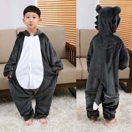 Wolf Kids Winter Warm Animal Onesie Pajamas