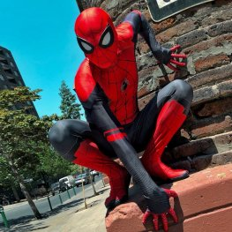 Spider Man Far Away From Home Suit Cosplay Costume Adult & Kids Aspandex Zentai