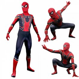 Iron Spider Man Suit Cosplay Costume Bodysuit Zentai For Adult & Kids