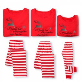 Family Pajamas Sets Holiday Pajamas Deer Red
