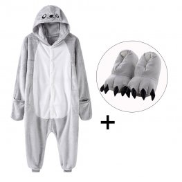 Seal Onesie Pajamas Costume for Adult & Kids with Slippers for Sale