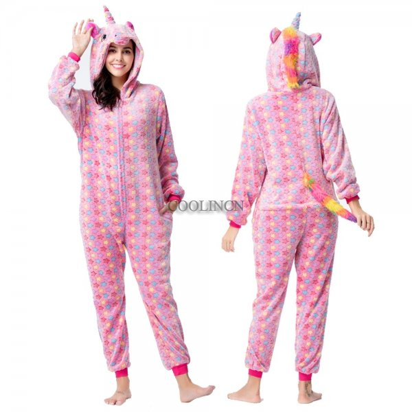Pink Star Onesie Pajamas Costumes Adult Animal Onesies Zip up