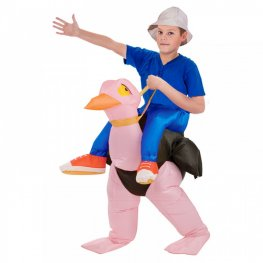 Inflatable Ostrich Blow Up Costumes Halloween Animal Funny Suit for Kids