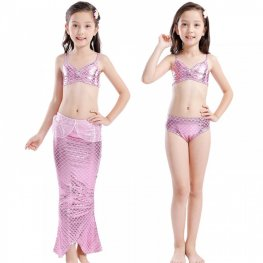 Mermaid Tale Dress For Kids Girls Swimsuits Bikini Mermaid Costume