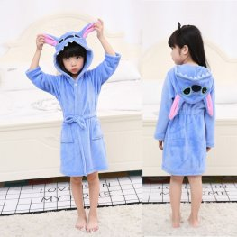 Stitch Robe: Soft & Cozy Animal Hooded Bathrobe
