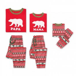 Family Pajamas Sets Holiday Pajamas Polar Bear Red