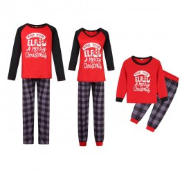 Matching Family Christmas Pajamas Elf Red