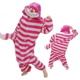 Cheshire Cat Onesie Pajamas for Adult Animal Onesies Cosplay Halloween Costumes