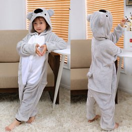 Koala Kids Flannel Animal Onesie Pajamas