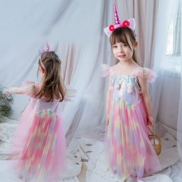 Unicorn Dress Girls Unicorn Costume Party & Birthday Dress In Multiple Styles