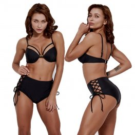 Black Bikini High Waisted Bathing Suits Cheap Swim Suit