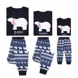 Family Pajamas Sets Holiday Pajamas Polar Bear