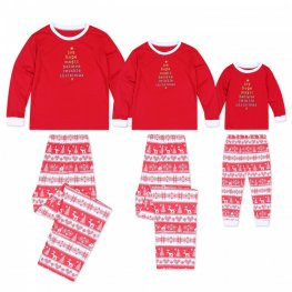Matching Family Christmas Pajamas Christmas Tree Red