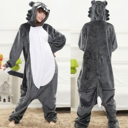 Wolf Adult Animal Onesie Pajamas In Stock, Fast Delivery