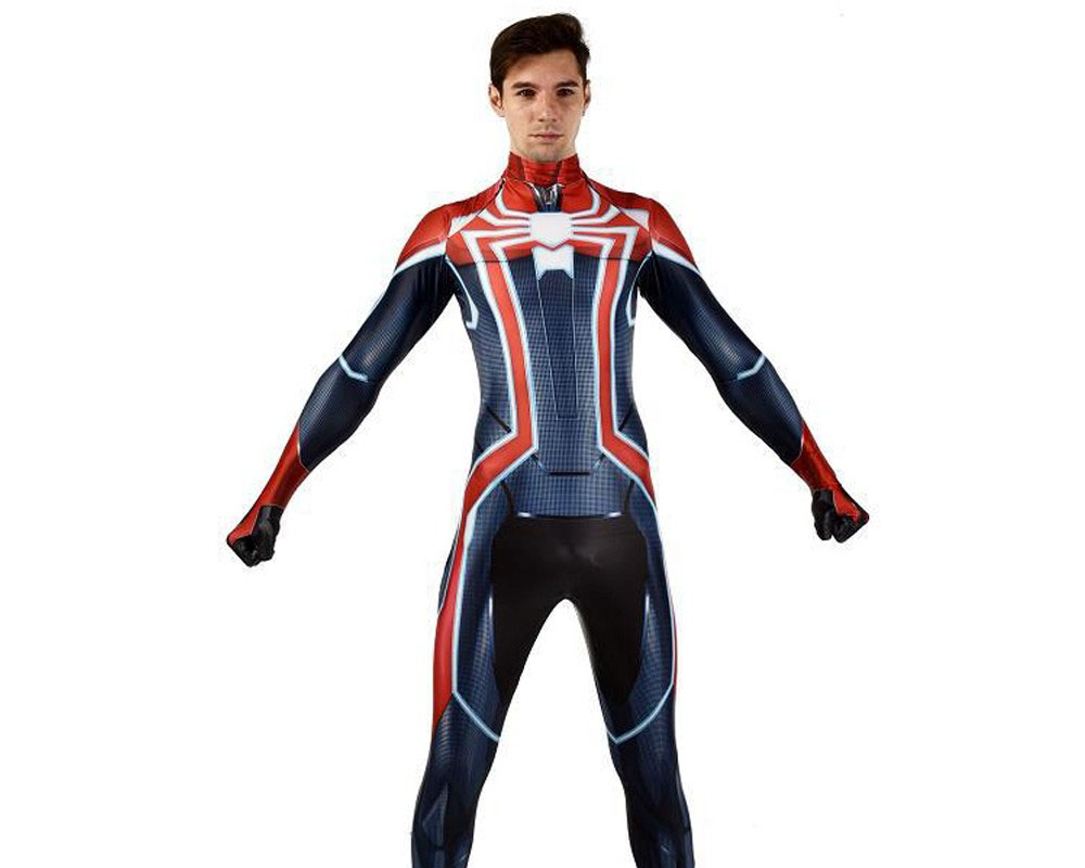Velocity Spiderman Suit Ps4 Spider Man Suit Cosplay Costume Spandex Zentai Adult & Kids